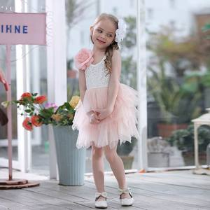 Image 1 - Summer Lace Girls Dress Gauze Kids Princess Dresses for Girl Vest Dress Party Dress Baby Clothes E16900