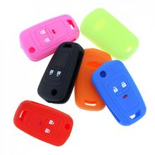 6 Colors 3 Buttons Silicone Car Remote Key Cover Case for Chevrolet Cruze  Spark Onix Silverado Volt Camaro Aveo Sonic New