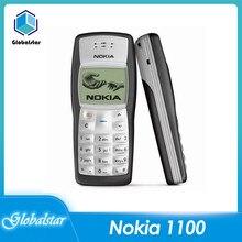 Nokia 1100 odnowione telefony komórkowe oryginalny odblokowany GSM 2G tanie dobrej jakości telefon komórkowy odnowiony darmowa wysyłka