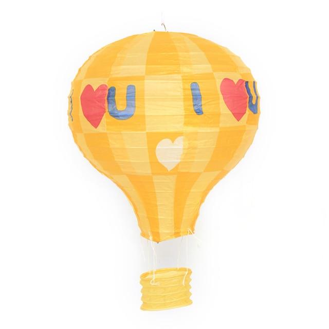 "1x Rainbow Hot Air Balloon Paper Lantern Kids Birthday Party Wedding 16/"" 40cm"
