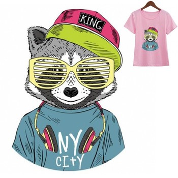 Cartoon King Bear Animal Iron On Patches Washable DIY Accessory For Kids Clothing Bag Heat Transfer T-Shirt Thermal Stickers image