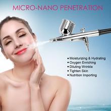 Facial Skin Spa Micro nano Hydraterende Zuurstof Spuit Machine Anti Rimpel Skin Verjonging Water Sproeier Salon Schoonheid Apparaat