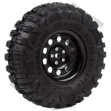 "4Pcs Metal 2.2"" Beadlock 10 Spoke Rims&Rubber Wheel Tires for 1/10 RC Rock Crawler TRAXXAS TRX4 Axial SCX10 90046"
