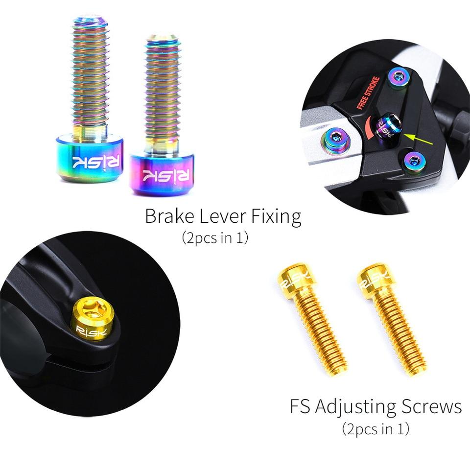 4PCS TC4 Titanium Alloy Bolts Screws for MTB Bicycle Crank Disc Brake Caliper FS