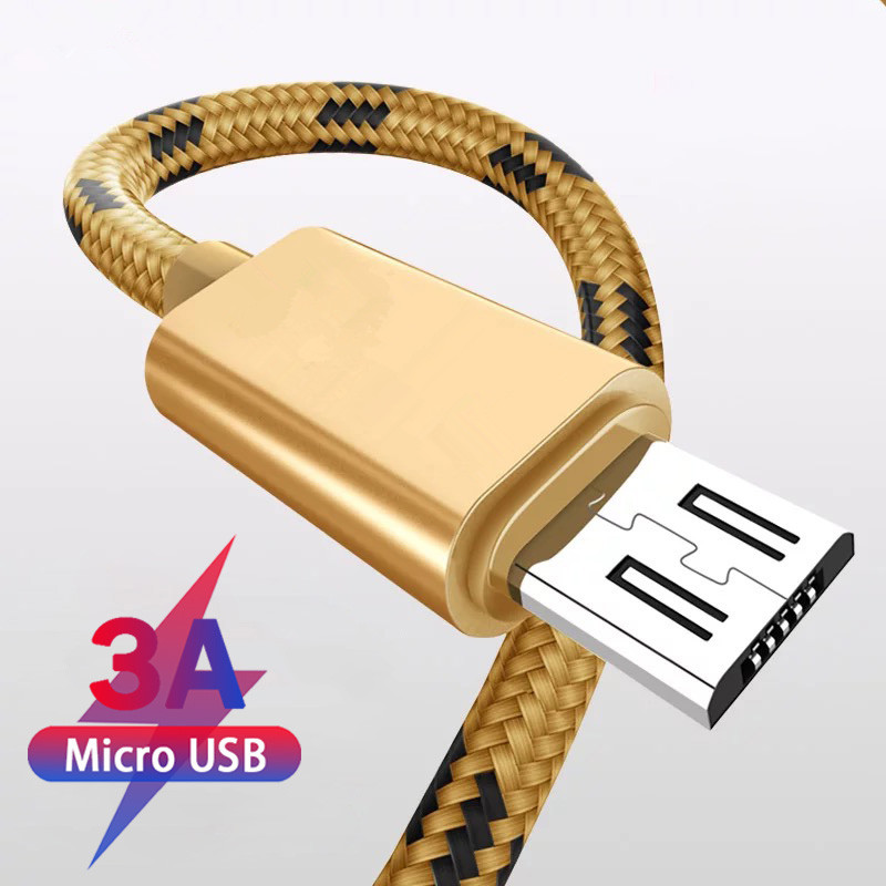 Micro <font><b>USB</b></font> <font><b>Cable</b></font> 1m 2m <font><b>3m</b></font> Fast Charge <font><b>USB</b></font> Data <font><b>Cable</b></font> for Samsung S6 S7 Xiaomi 4X LG Tablet Android Mobile Phone <font><b>Cables</b></font> image