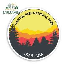 EARLFAMILY 13cm x for Capitol Reef National Park Funny Car Stickers RV VAN 3D DIY Fine Decal Vinyl JDM Truck Graphics