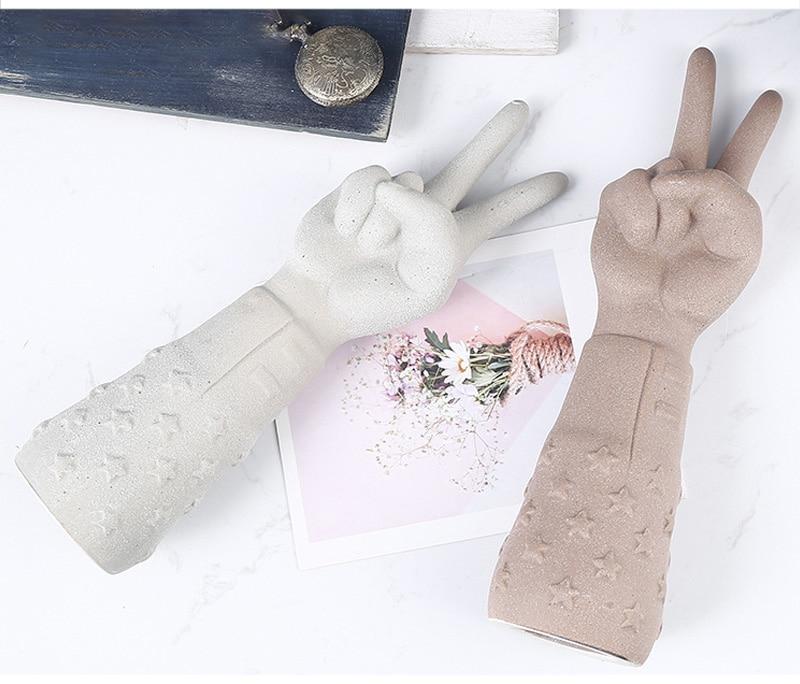 Decoração de casa mão gesto escultura &