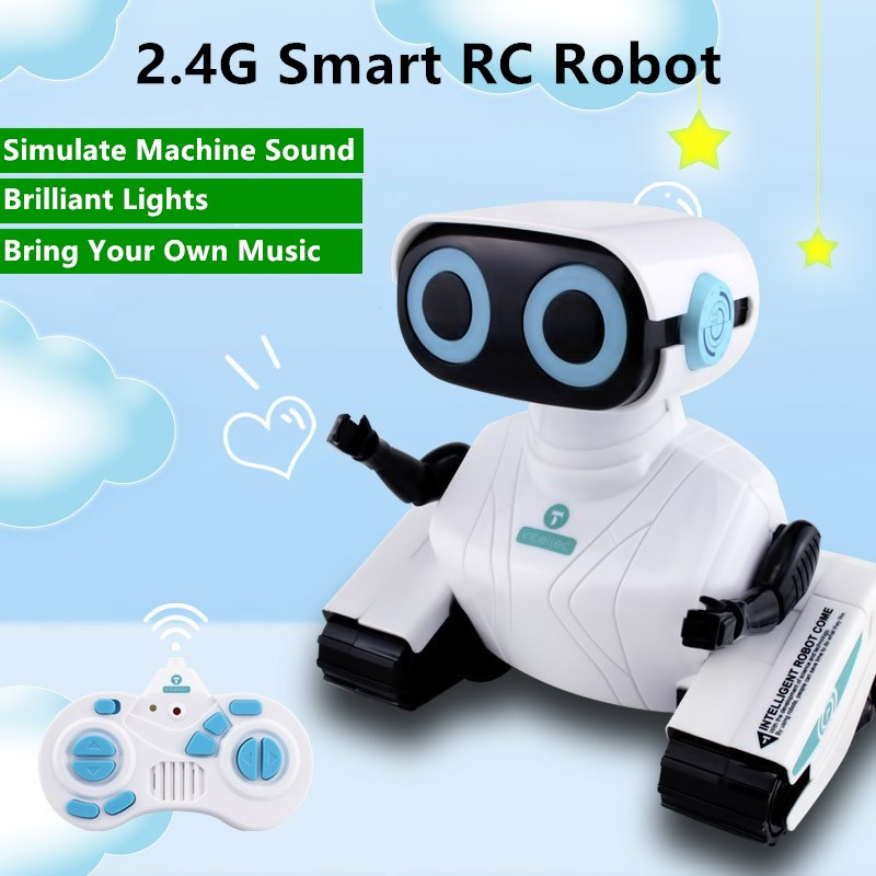 Remote Control Robot Toy RC 2.4G Simulated Machine Sound  Brilliant Light Dancing  Walking Children's Educational Electric Toy
