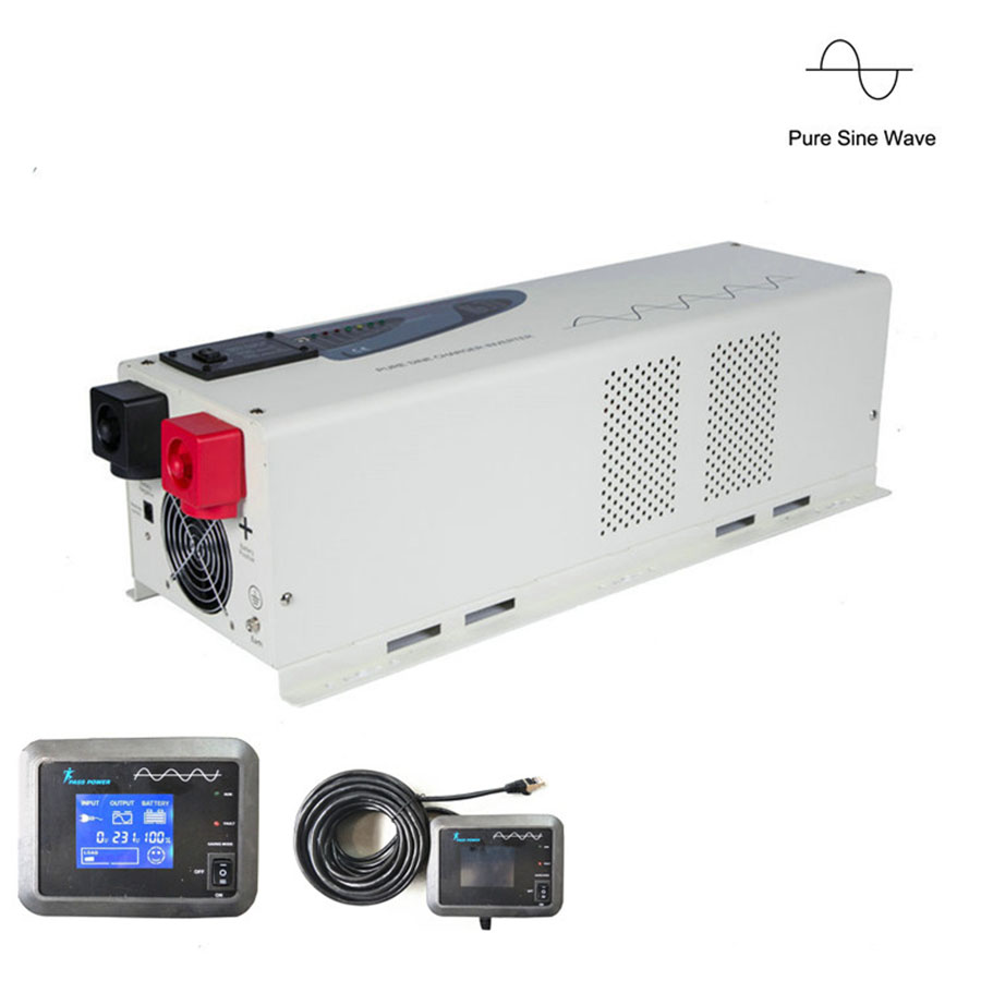 DC AC 6000W low Frequency Inverter LCD Display Pure Sine Wave Inverter With Charger
