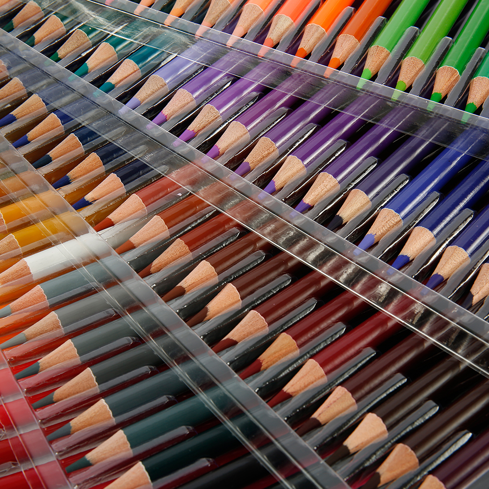 48/72/120/160 colores conjunto de lápices de Color para pintura al óleo de artista bocetos lápices de Color de madera suministros de arte escolar Kit de dibujo de regalo Luz de fibra óptica de 41cm de ancho con controlador colorido pmma plástico led fibra óptica ABS lámpara de iluminación de cristal IL