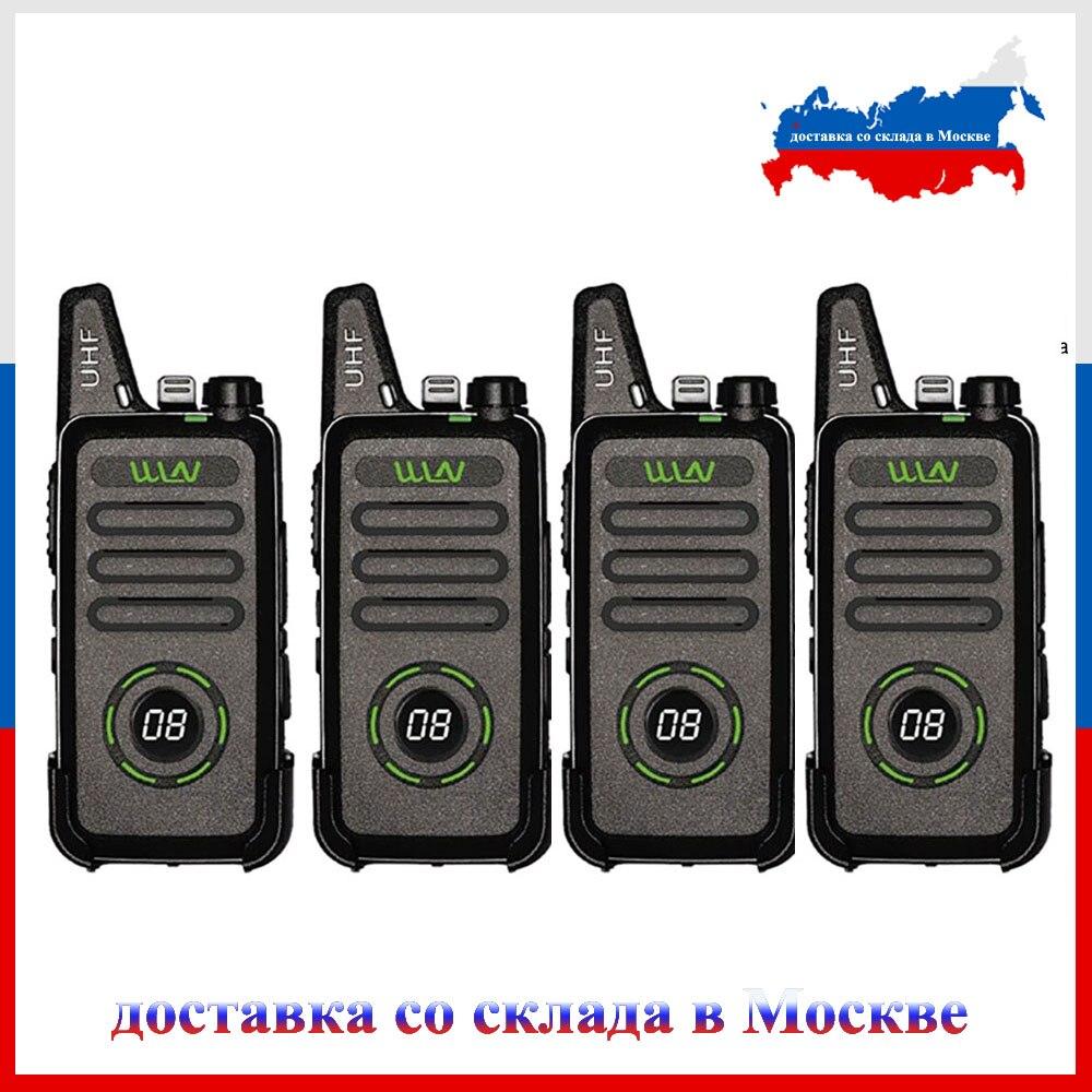 4pcs Mini Walkie Talkie UHF 5W Amateur Radio KD-C1 Plus RT22 Plus Handheld Radio Station Conmunicator Transceiver Ham Radio
