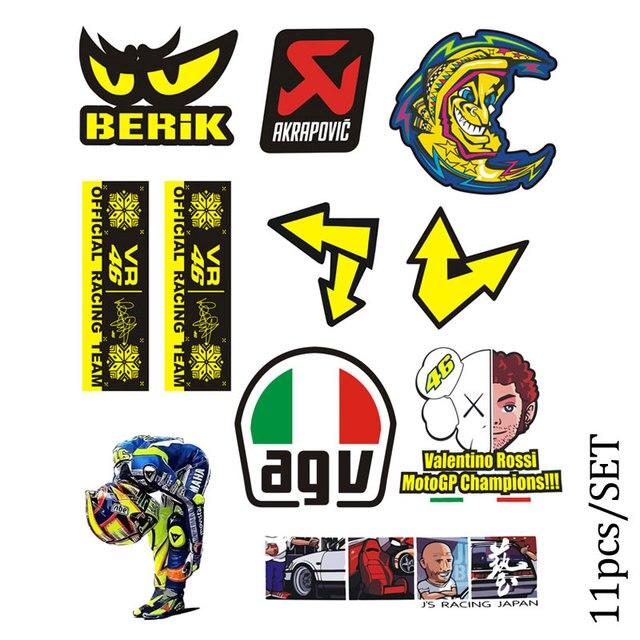 Reflektif Motor Skuter Mobil Styling Stiker Helm Laptop Bagasi Dekorasi Hrc Agv 46 Logo Kartun Tahan Air Stiker Decals Stiker Aliexpress