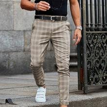 Męskie spodnie Smart Casual spodnie mężczyźni odzież Plaid ołówek spodnie mężczyźni odzież 2021 długie spodnie męskie spodnie sportowe wiosna dres tanie tanio Jodimitty CN (pochodzenie) Poliester REGULAR 38 58 - 42 52 men pants Midweight Suknem Pełnej długości