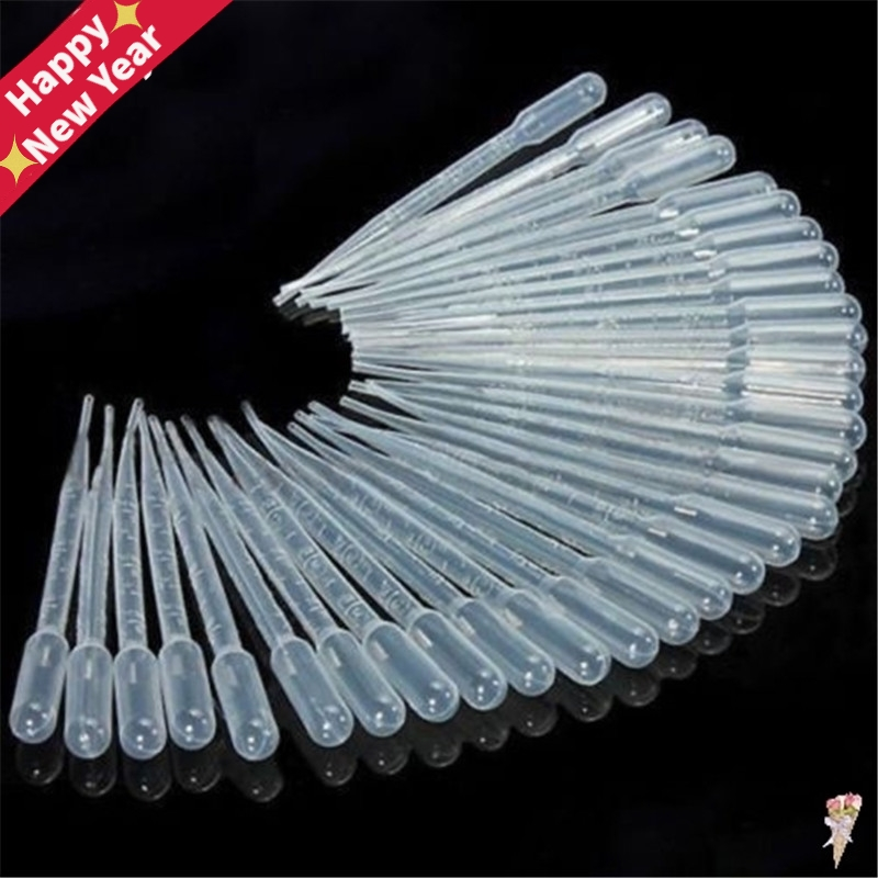 10Pcs 3ML Laboratory Tools Pipettes Plastic Disposable Graduated Pasteur Pipette Dropper Polyethylene Makeup Tools