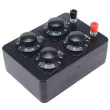 Decade-Resistor Resistance-Box Variable Ohm Teaching-Instrument 0-9999 50PB Precision