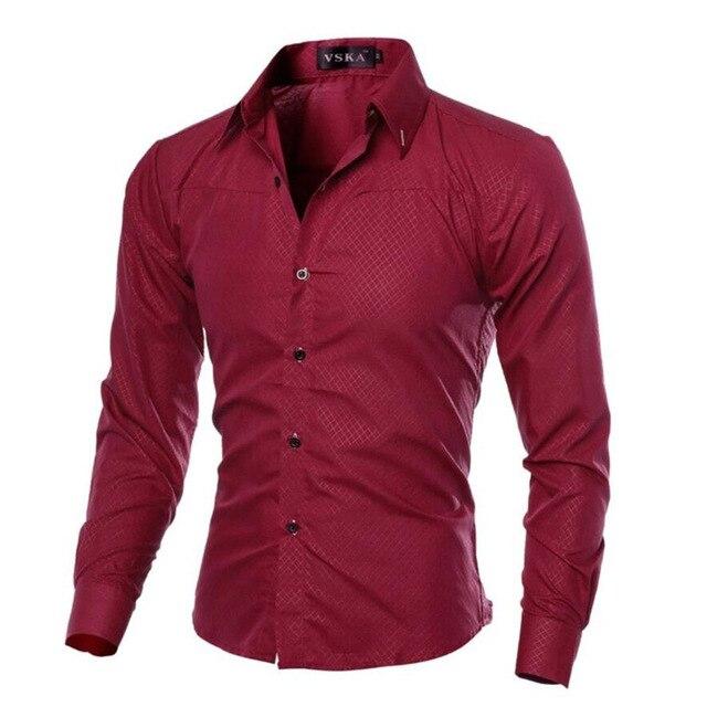 Мужская  деловая приталенная рубашка с длинными рукавами от vsego.su 6
