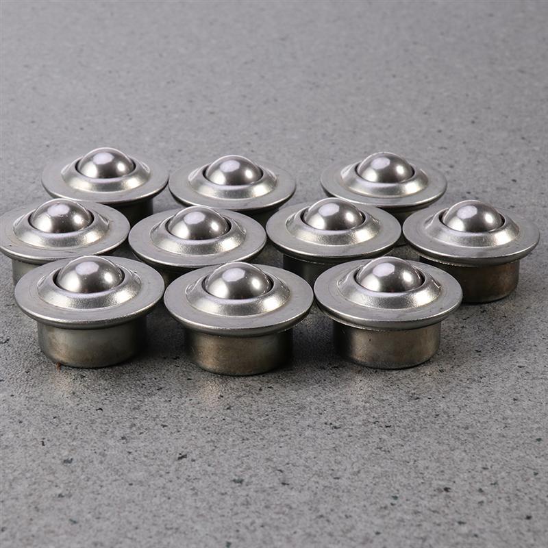 WINOMO 20pcs/Pack Stainless Steel Bearing Casters Universal Base Metal Ball Bearing Casters Mounted Bearing Transfer Bearings
