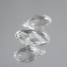 Crystal-Beads Teardrop Faceted Jewelry-Making Clear Oval Hole-Briolette 50pcs Czech 6x12mm