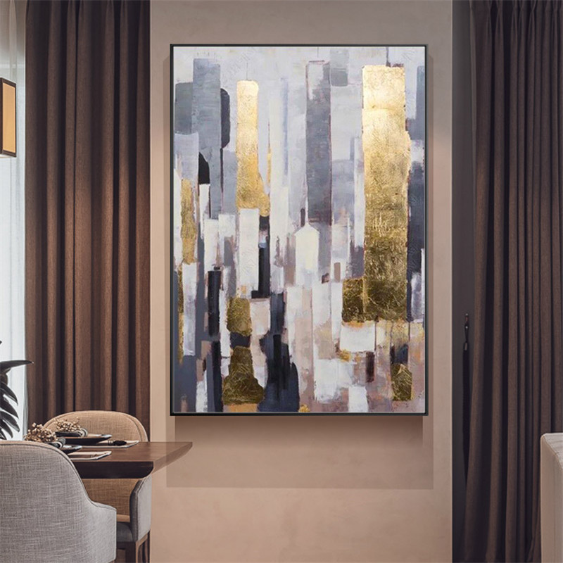 Wall Art Canvas painting Modern Abstract Art Golden Painted Canvas Art For Home Living Room Decoration Pictures