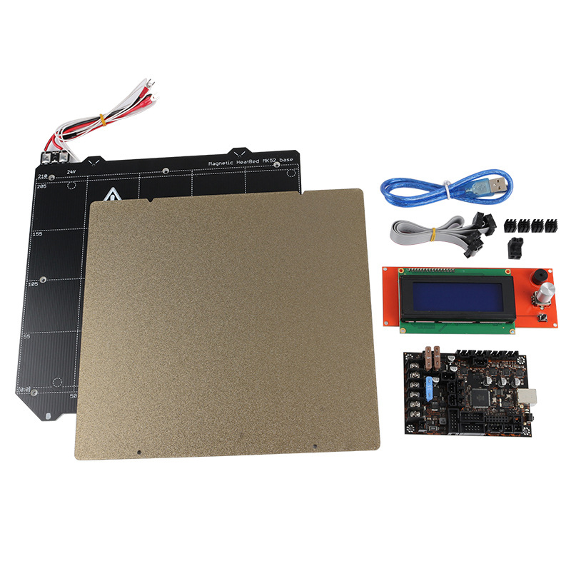 Einsy Rambo 1.1A Motherboard +2004 LCD Display MK52 Magnetic Hot Bed PEI Steel Plate for Prusa I3 MK3 3D Printer|Printer Parts| |  - title=