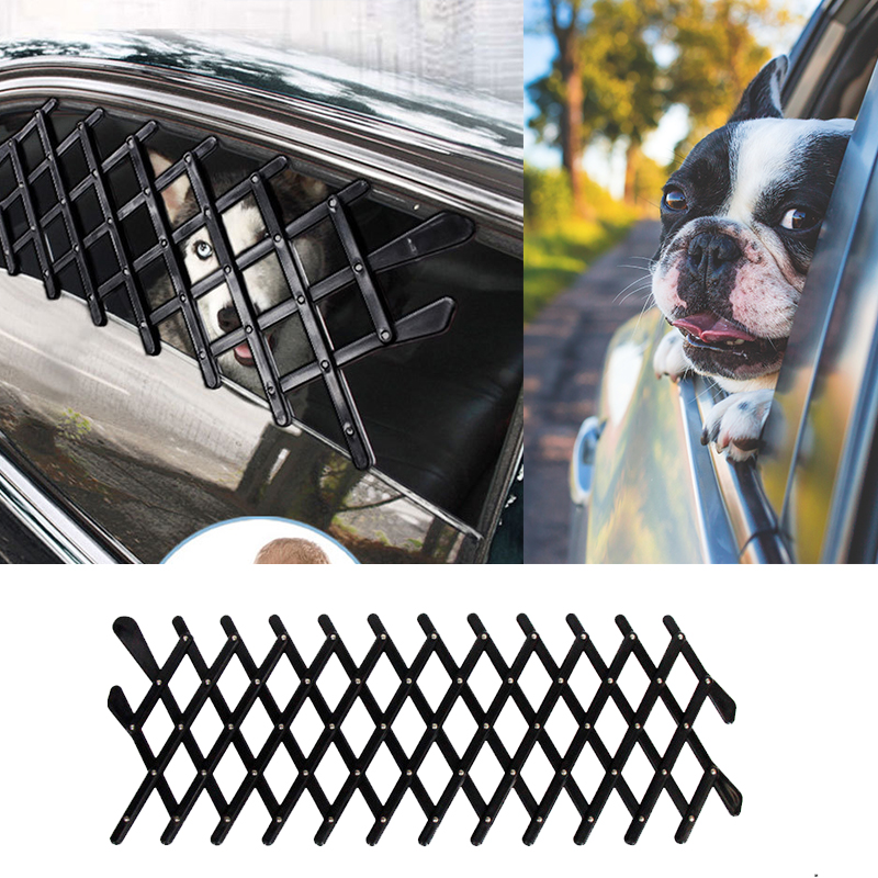 Pet Dog Ventilation Safe Guard Mesh Vent Fences Car Window Protective Fence For Dogs Pets Outdoor Travel Supplies