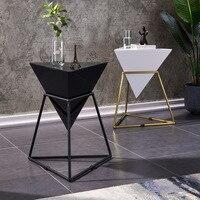 Nordic tea table light luxury edge table of sofa mini flower a few iron creativity bedroom nightstand
