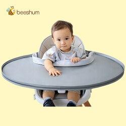 Beeshum детские нагрудники для кормления и поднос для кормления ребенка нагрудник блюдце непромокаемые детские нагрудники Фартук, высокий сту...