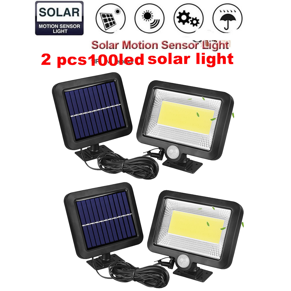 2/4pcs solar Lamp Garden Led 100/56/30 LEDs Lights Bright Motion Sensor Remote Control Gardern Decoration Outdoor Wall Waterproo