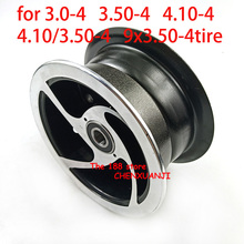 3.00-4 3.50-4 4.10-4 4.10/3.50-4 9x3.50-4'' wheel rim 4 inch alloy 6202 bearing hub fit MiNi Moto,ATV&Go Kart Electric Scooter