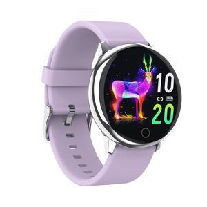 Image 5 - BELOONG Q16 w pełni z okrągłych sterowanie dotykowe ciśnienia krwi tętno fizjologiczne opaska monitorująca inteligentny zegarek fitness smart watch Q9 Q8