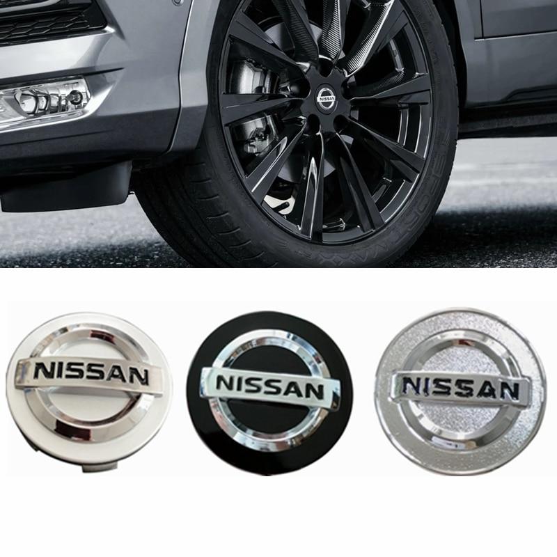 4pcs 54 58 60MM Car Wheel Center Hub Caps Badge Emblem Decal Wheel Cover for Nissan Qashqai Tiida Almera Altima Teana X-Trail