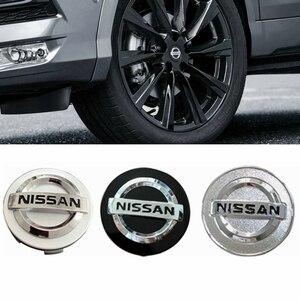 4 шт 54/58/60 мм Центральная втулка колеса автомобиля крышки эмблемы наклейки на колеса автомобиля крышки для Nissan Qashqai Tiida Almera Altima Teana X-Trail