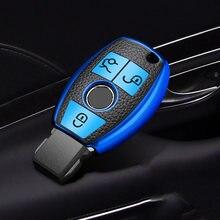 Горячая Распродажа ТПУ + кожаный чехол для автомобильного ключа