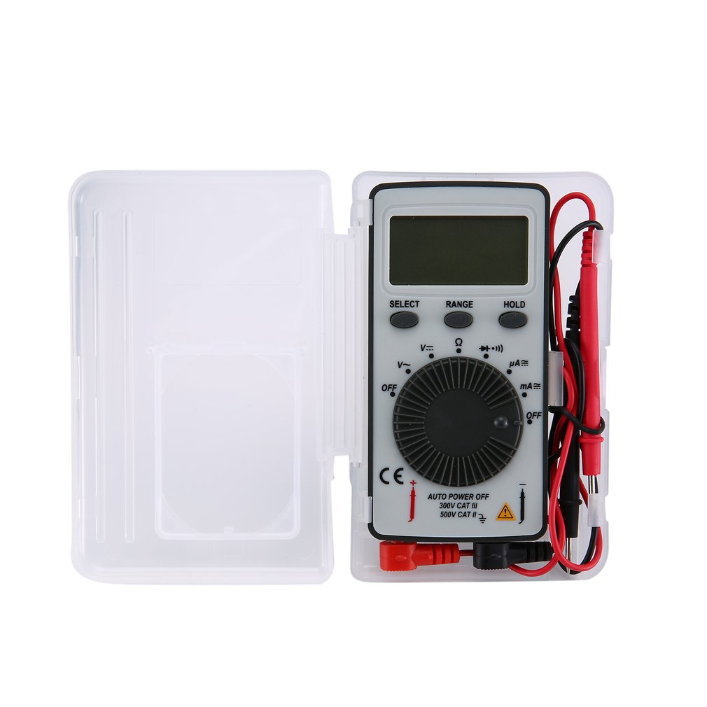 DT9210 1999 Counts Pocket Digital Multimeter AC/DC Voltage Ammeter Tester Resistor Diode Continuity Test Data Hold Auto Range|Multimeters| |  - title=