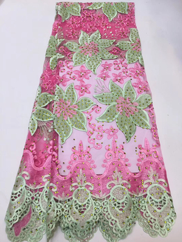 High quality African lace fabric 2019 latest African French lace lace dress material Nigeria lace fabric ZX33471