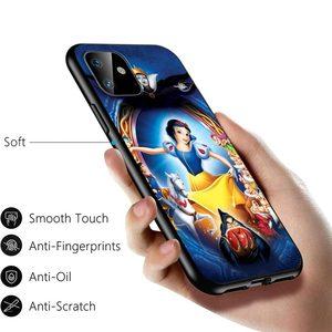 Image 5 - Królewna śnieżka śliczna dla Apple iPhone 12 11 Pro Max mini XS Max XR X 8 7 6 6S Plus 5S SE 2020 miękka czarna obudowa telefonu