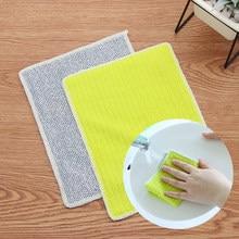 Chiffon de nettoyage de vitres en Fiber de bambou, 2 pièces, serviettes Super absorbantes, anti-graisses, pour la vaisselle, la cuisine