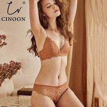 CINOON, новый сексуальный комплект с бюстгальтером, женское пуш ап кружевное белье трусики, тонкие дышащие бюстгальтеры в комплекте, жаккардовое сексуальное нижнее белье, бесплатная доставка