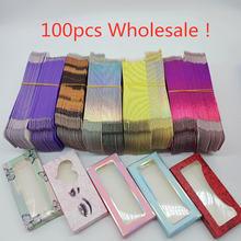 Оптовая продажа 50/100 шт бумажные накладные ресницы упаковочная