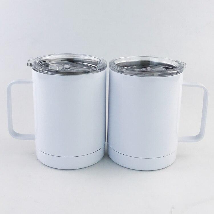 2 pces 300ml 10oz garrafa termica do carro copo em branco sublimacao transferencia prtinting por sublimacao