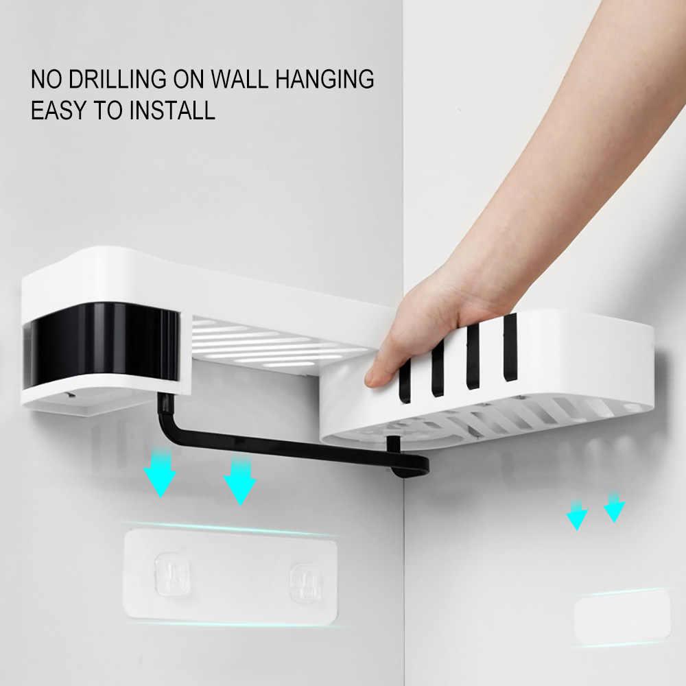 1 pièces coin douche étagère salle de bains shampooing douche étagère support cuisine étagère de rangement organisateur mural Type baño 4