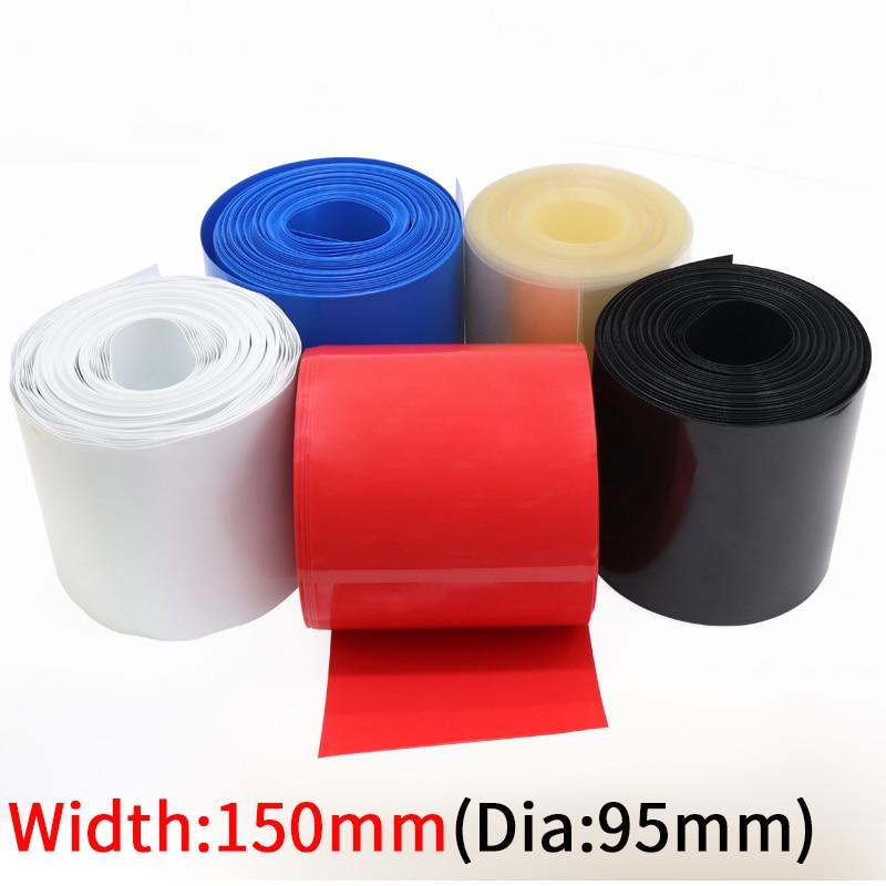 Breite 150mm PVC Schrumpf Schlauch Durchmesser 95mm Lithium-Batterie 18650 Pack Isolierte Film Wrap Schutz Fall Pack draht Kabel Hülse
