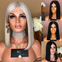 Short Lace Front Human Hair Wigs Brazilian Straight Bob Wig Pre Plucked Hairline With Baby Hair Lace Wig HJ Weave Beauty