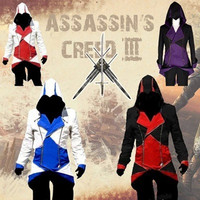 cosplay assassins creed Adult Men Women Streetwear Hooded Jacket Coats Outwear Costume Edward assassins creed Halloween Costume