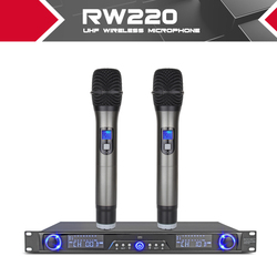XTUGA  Wireless Microphones System  Receiver For Stage Bar Show 2 channel handheld mic Digital Diversity UHF RW220