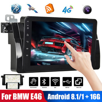 "2Din 9"" Android 8.1 Car Multimedia Player FOR BMW E46 E39 Car Stereo with Mirror Link GPS WiFi Bluetooth Touch Control Car Radio image"