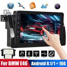 9 pulgadas Android8.1 Radio de coche para BMW E46 2Din estéreo de coche con enlace de espejo Autoradio capacitivo Control táctil GPS WiFi Bluetooth
