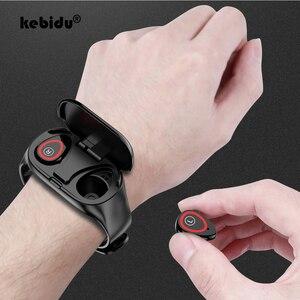 Image 1 - Bluetooth Headphone Sport Earphones M1 AI Smart Watch Heart Rate Monitor Smart Wristband Long Time Standby Fitness Bracelet