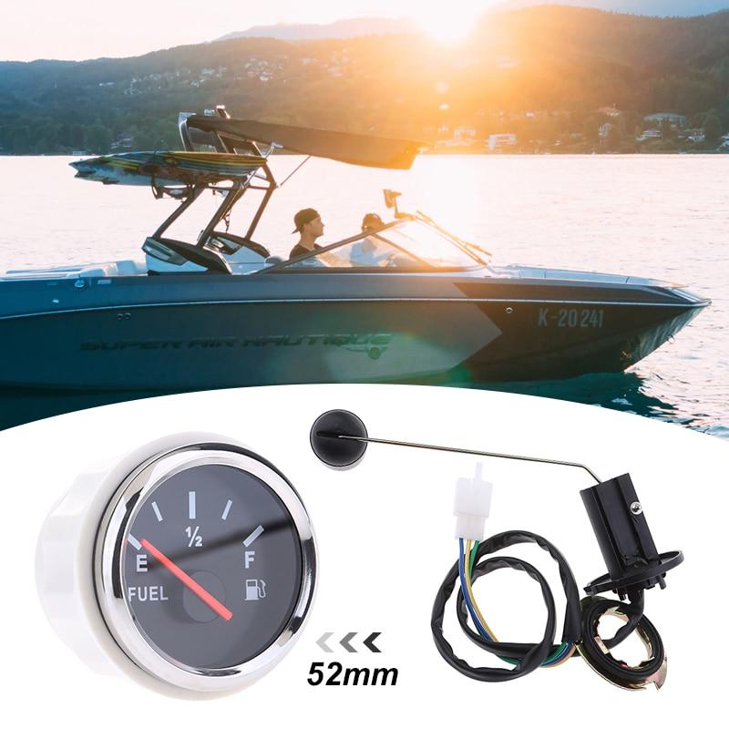 1 Set 12V Car Boat Fuel Level Gauge Meter Fuel Sensor Sender Unit Kit Universal For Auto Boat RV ATV Quad Etc 2 Inch/52mm IP67