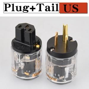 Image 3 - HIFIDIY LIVE EU/US/AU ทองแดงบริสุทธิ์ทองแดงชุบ Power Plug Connector สำหรับ HIFI Audio Power Supply ตัวเชื่อมต่อสายไฟความโปร่งใส